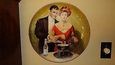 Scarce c1915 Budweiser Beer St Louis Pre Prohibition Charger Sign Tray Say When!