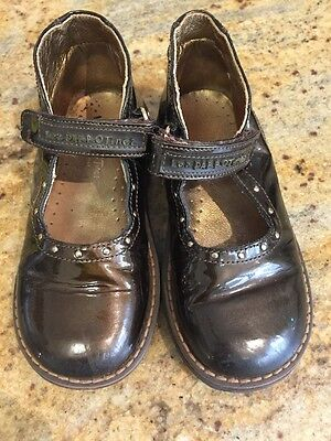 Girls Leather Brown Shoes Size 26