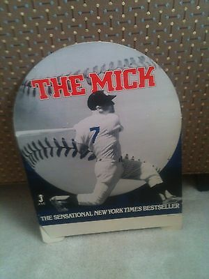 """""""The Mick"""" New York Times Bestseller ~ Bookstore Display ~ Mickey Mantle Yankees"""
