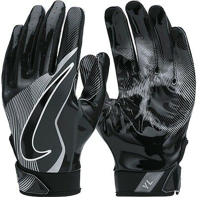 "Nike YOUTH Footlball Gloves""Vapor Jet 4.0 Receiver"",Black,Size M"