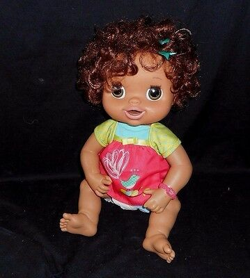 Baby Alive Hasbro 2010 Hispanic Interactive Talking Doll Brown Hair Tested Works