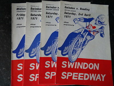 SWINDON SPEEDWAY PROGRAMMES (x3) (1971) - LISTED WEMBLEY READING