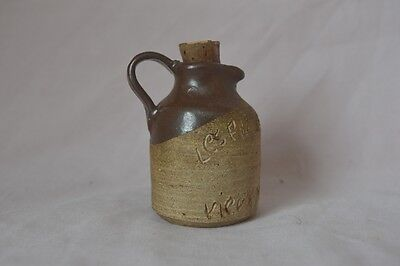 Antique Old Montreal The Girls of Roy Stoneware Scratch Jug Miniature Small Mini