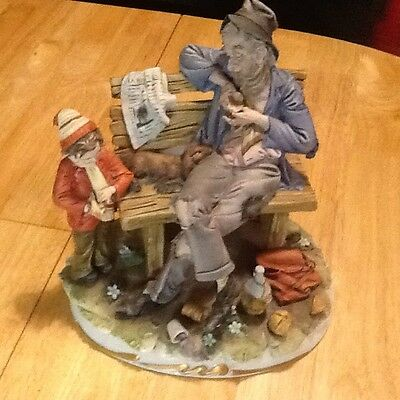 Capodimonte Tramp & Boy, Limited Edition & Certificate Of Authenticity