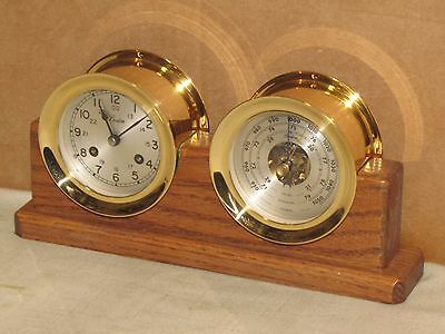 Chelsea Vintage Ships Bell Clock/barometer~Boston Model~3 1/2 In Dials~1983
