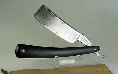 """Massive W. Greaves & Sons Ne Plus Ultra Straight Razor Etched 8/8"""" Blade 1816-26"""