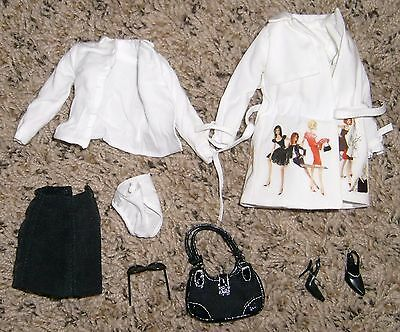 Trench Setter Barbie Outfit Only Fashion Model Collection Silkstone DollNRFB