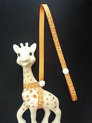 Natural Sophie the Giraffe Strap,Toy saver/ Cheap! /buy 2 get 3rd one half price