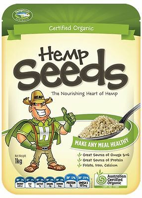 HEMP FOODS AUSTRALIA Hulled Hemp Seeds 1kg