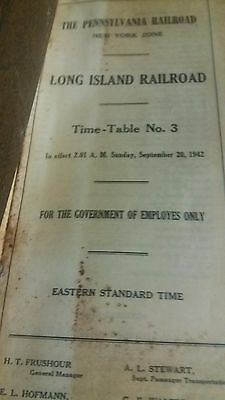 Let's Deal! Vintage 1942 L.i., New York  R.r. Timetable-W/typo!! 75 Years Old!