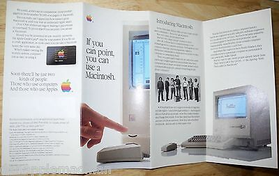 1984 Introducing Macintosh 128K Brochure Poster NEW from SEALED Pack! Mac M0001