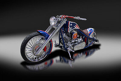 2014 Custom Built Motorcycles Chopper  2014 Orange County Choppers New England Patriots Chopper. Not a Harley Davidson.