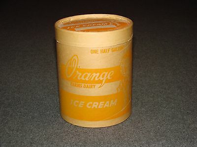 Orange Farms Dairy Vintage Ice Cream Container (unused)
