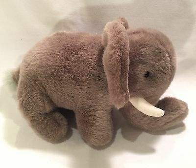 "Gray ELEPHANT with Tusks Plush by PRINCESS SOFT TOYS 13""x8"" EUC"