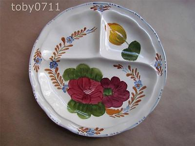 Simpsons Chanticleer Ware Belle Fiore Three Sectioned Hors D'oeuvres Dish