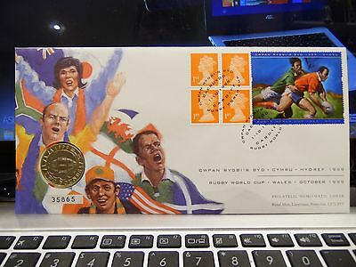 Royal Mint - Royal Mail - 1999 -  Rugby Worldcup Wales October 1999 - 2 Pounds