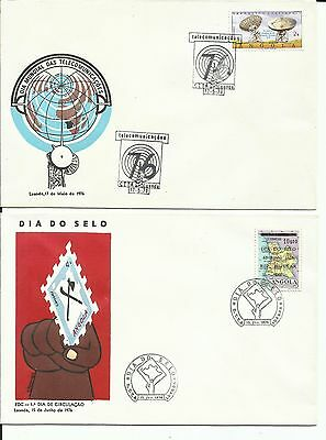 Angola 1976 - Commemorative Covers -Telecommunications and Stamp Day