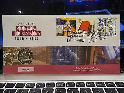 Royal Mint - Royal Mail - 2000 - 150 Years Of Public Libraries - 50 Pence