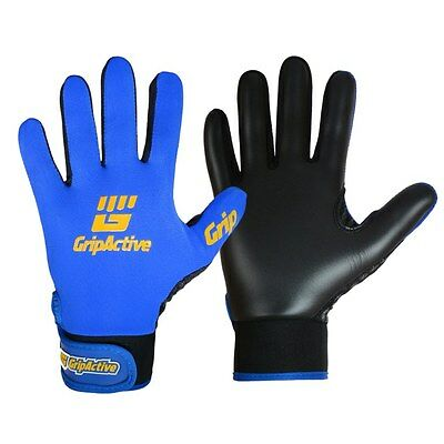 Grip Active Premium Quality Gaelic Football Gloves - Royal Blue - Adult