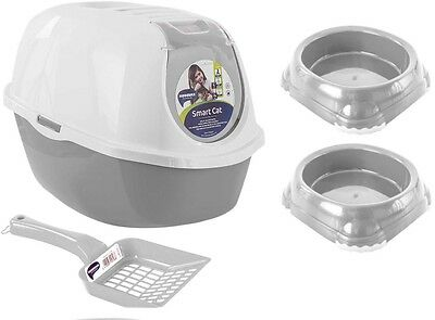Large Cat Litter Tray Box Carbon Filter Savic Nestor XXL Covered Loo Hooded Pet