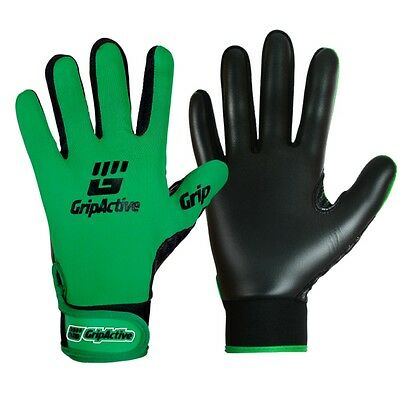 Grip Active Premium Quality Gaelic Football Gloves - Green - Youth