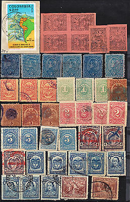 Colombia 44 Classic & Modern Used Stamps(C484)