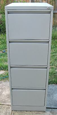 "Black Heavy Duty 3 drawer FILING CABINET ""Elite Built"" with key, Australian made"