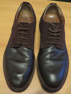 Peter Werth 'turnmill Derby' Dark Brown Leather/suede Lace Up Shoes Ec Size 43