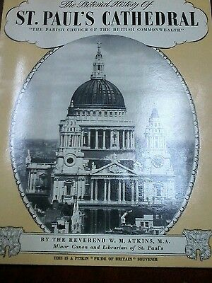 1950s St.Pauls Cathedral Pictoral History Souvenir Booklet