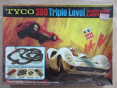 Vintage Tyco 300 Triple Level Racing Layout Incomplete For Parts Jmsr21