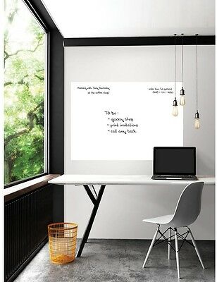 WallPOPs Home Office Memo Message Wall Decor White Giant Dry Erase Decal Board