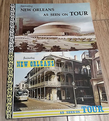 """Lot of 2 VTG booklets """"Fascinating New Orleans as seen on tour"""""""