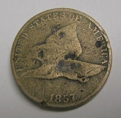1857 Usa - Flying Eagle One Cent Copper - Great Collector Coin