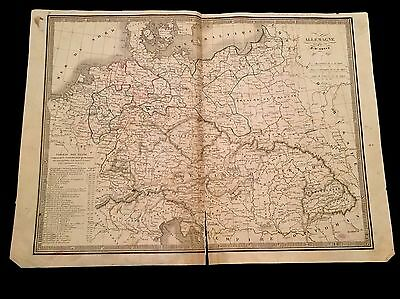 OLD MAP OF GERMANY 1800s