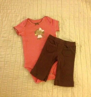 [0-3m] EUC Warm Baby Girl Outfit/Set