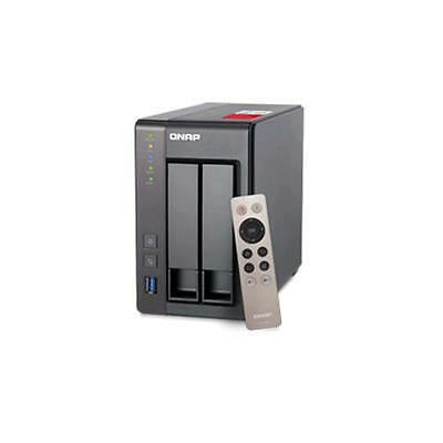 """Qnap Ts-251+-2G Nas Chassis Tower 2 Bay Hdd/ssd Sata Ii-Iii Formato 2.5""""/3.5"""" It"""
