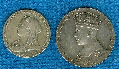 1897 & 1937 British Silver Medals for the Queen Victoria & King George VI