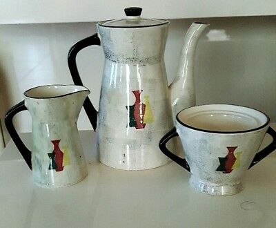 Coffee Creamer And Cup Set With Cereal Bowls  By Capri Royal Sealy Japan