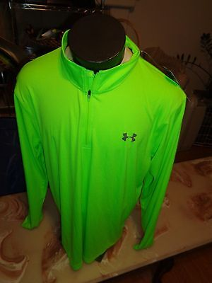 New Under Armour Mens Tech 1/4 Zip Pullover Shirt   Sz - Xl  (Gpv)