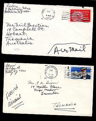 4 x Different US Airmail Covers to Australia