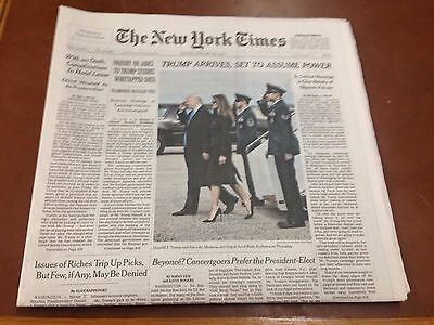NEW YORK TIMES 45th PRESIDENT DONALD J. TRUMP INAUGURATION 1/20/2017 NEWSPAPER