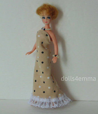 DAWN DOLL CLOTHES fits Topper & repro Handmade GOWN and JEWELRY Fashion NO DOLL