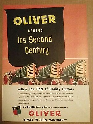 1948 Oliver 66, 77, 88 Tractor Ad