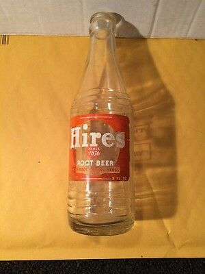 Vintage Hires Root Beer Soda Pop Bottle - 12 oz