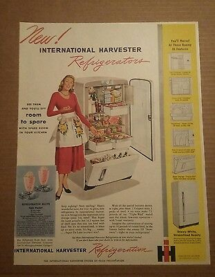 1948 International Harvester IH Refrigerator Ad