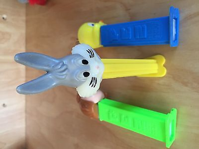 1978 Buggs Bunny PEZ Dispenser also 1 Peppermint Patty and Tweety Bird