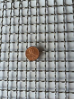"Stainless Steel Crimped 304 Mesh #2 .063  Cloth Screen 6""x24"""