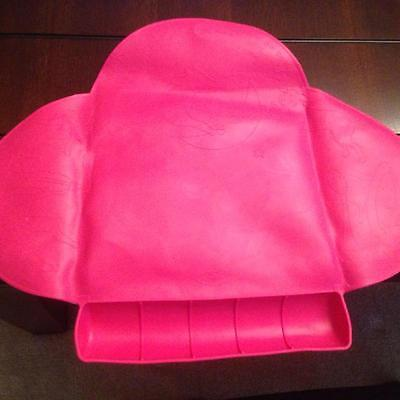 Baby/Toddler Roll up Silicone Suction Travel Placemat - Pink