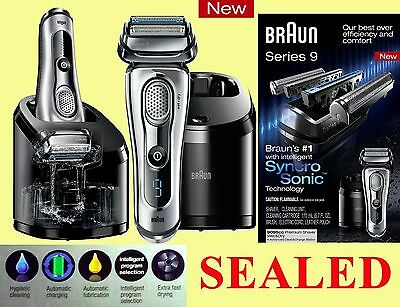 Braun Series 9 +CLEAN&CHARGE STATION! 9095cc electric razor shaver (Wet&Dry) NEW