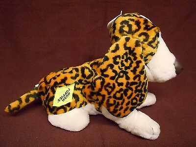 LEOPARD Hush Puppies BEAN BAG Plush BASSET HOUND Dog APPLAUSE